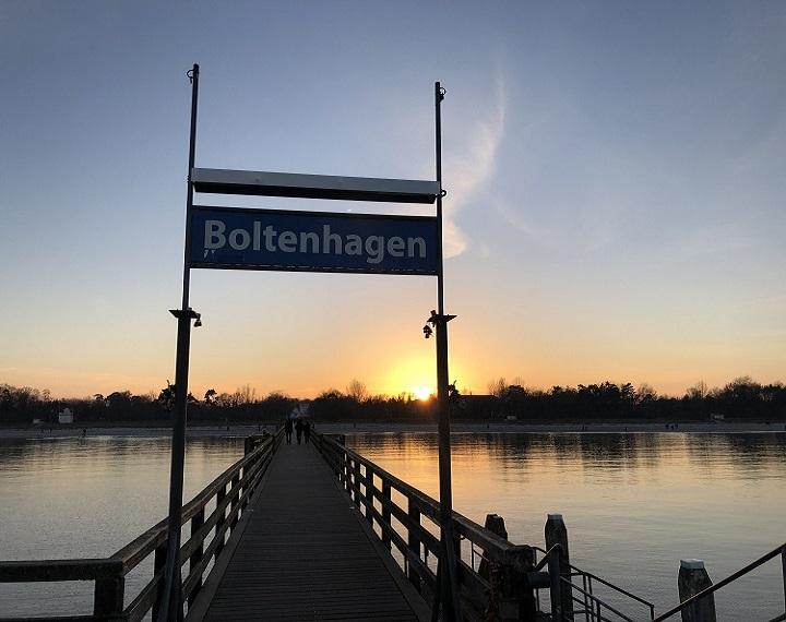 Seebrücke Boltenhagen bei Dämmerung